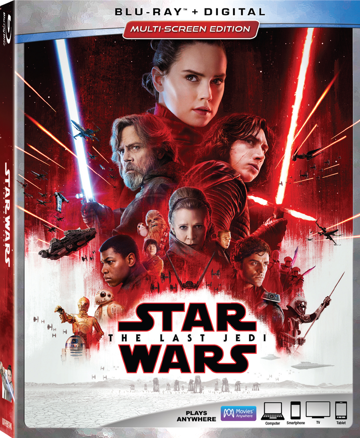 Star Wars: The Last Jedi Comes to Digital HD March 13th and Blu-ray/DVD on March 27th