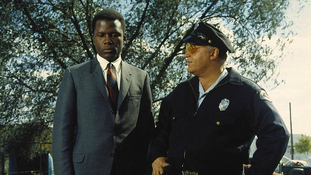 "Sidney Poitier and Rod Steiger in ""In the Heat of the Night"""