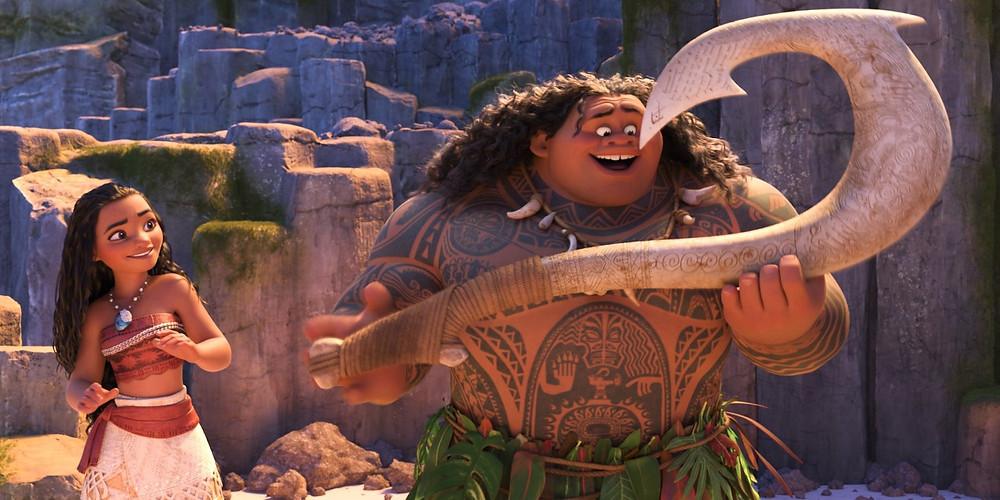 "Moana (Voice of Auli'i Cravalho) and Maui (Voice of Dwayne Johnson) in ""Moana"""