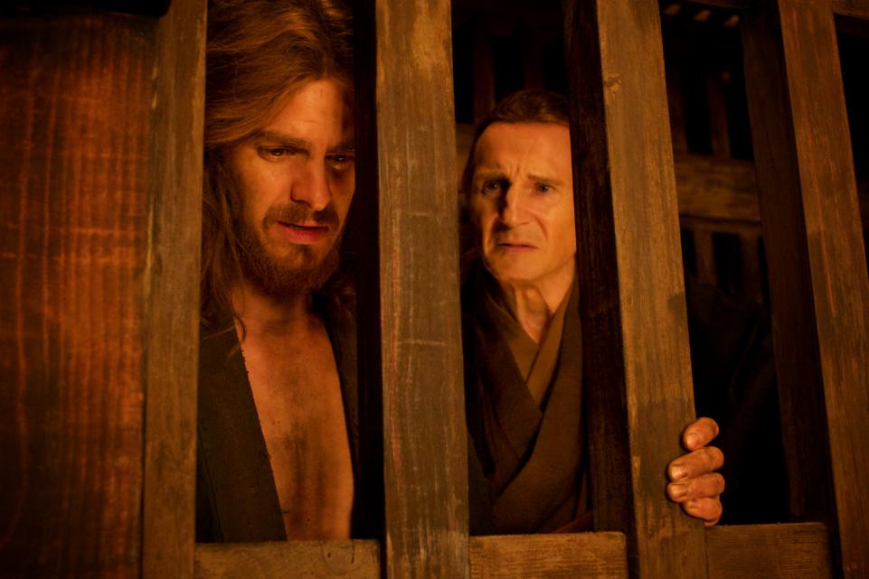 "Andrew Garfield and Liam Neeson in ""Silence"""