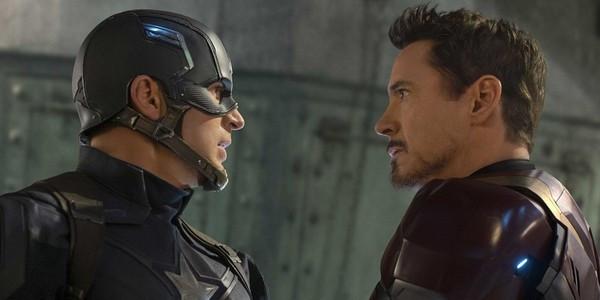 """Chris Evans and Robert Downey Jr. in """"Captain America: Civil War"""""""