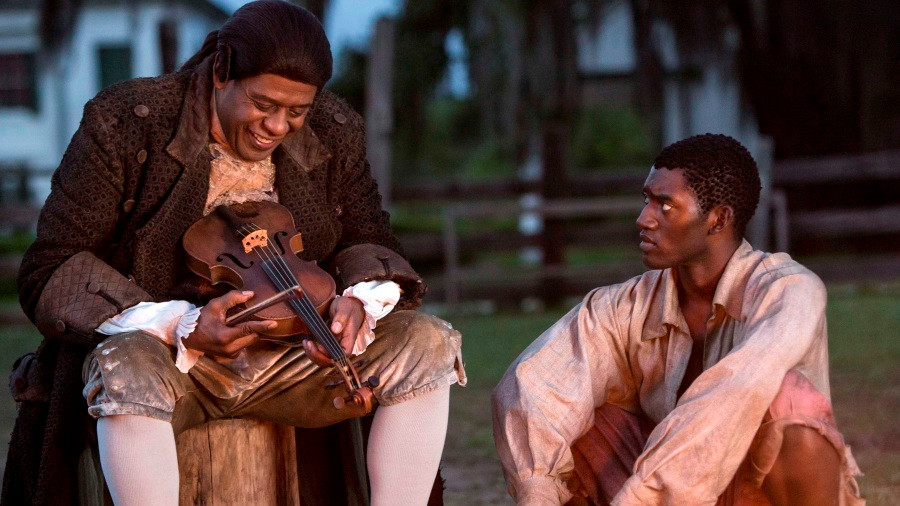 "Forest Whitaker and Malachi Kirby in ""Roots"""