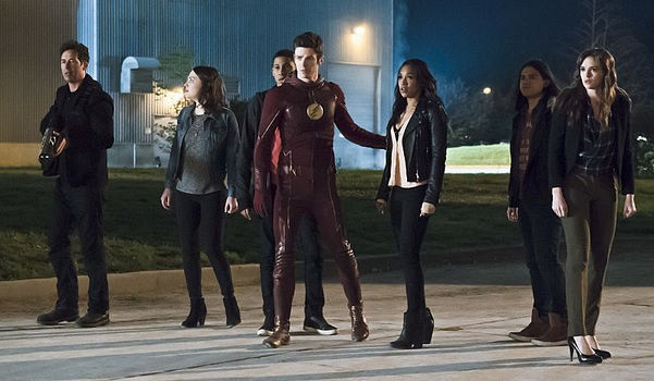 "Barry Allen/The Flash (Grant Gustin) and his friends prepare for the final confrontation in ""The Flash: Season Two"""