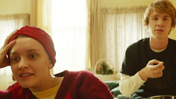 """Olivia Cooke and Thomas Mann in """"Me and Earl and the Dying Girl"""""""