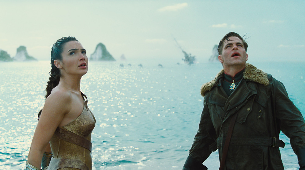 "Gal Gadot and Chris Pine in ""Wonder Woman"""