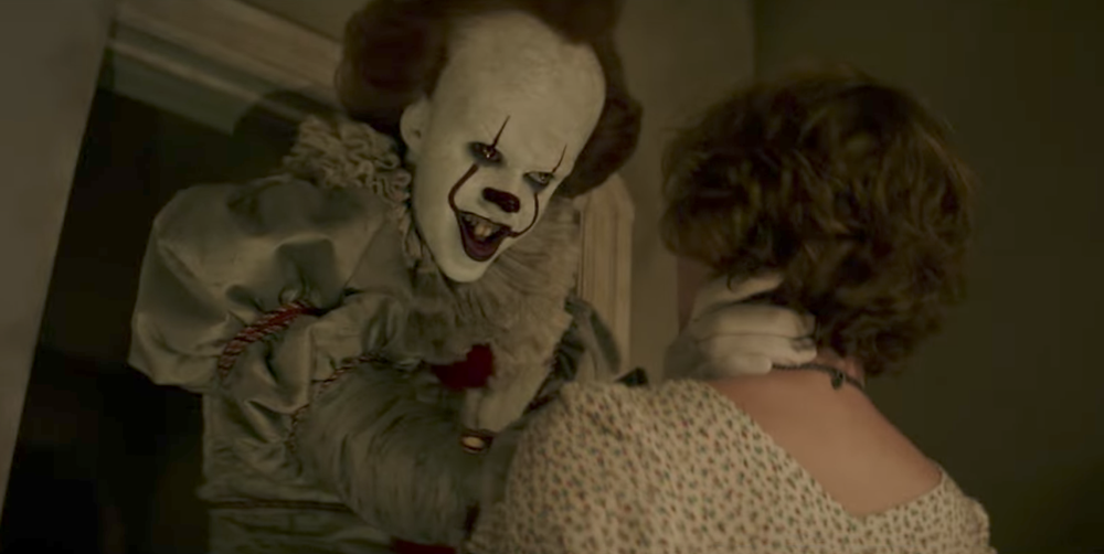 "Bill Skarsgard and Sophia Lillis in ""IT"""