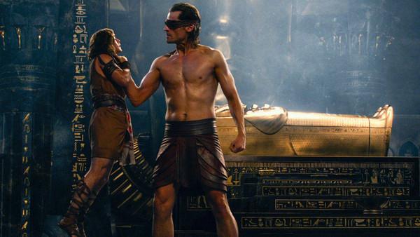 """Brenton Thwaites and Nikolaj Coster-Waldau in """"Gods of Egypt"""""""