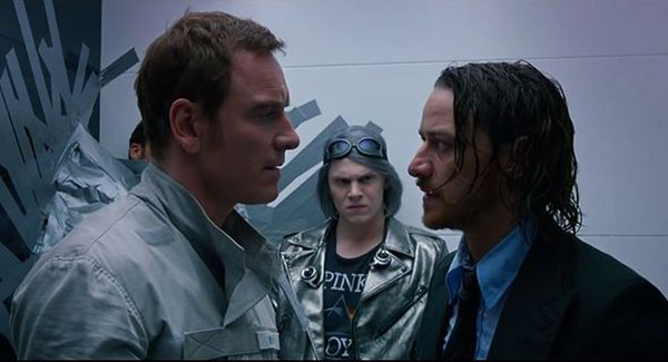 """Michael Fassbender, Evan Peters, and James McAvoy in """"X-Men: Days of Future Past"""""""