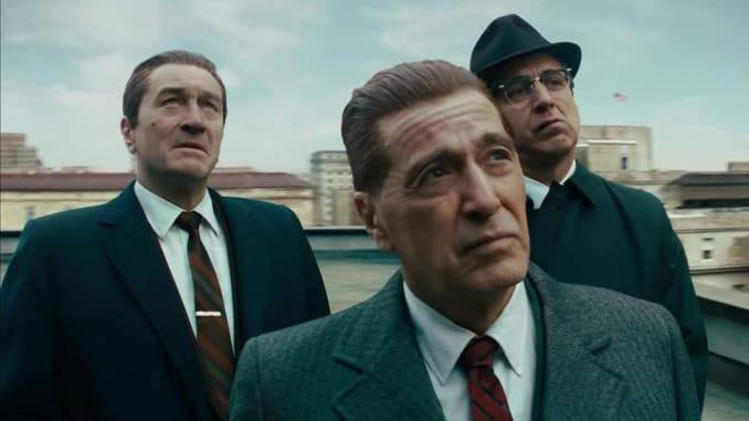 "Robert De Niro, Al Pacino, and Ray Romano in ""The Irishman"""