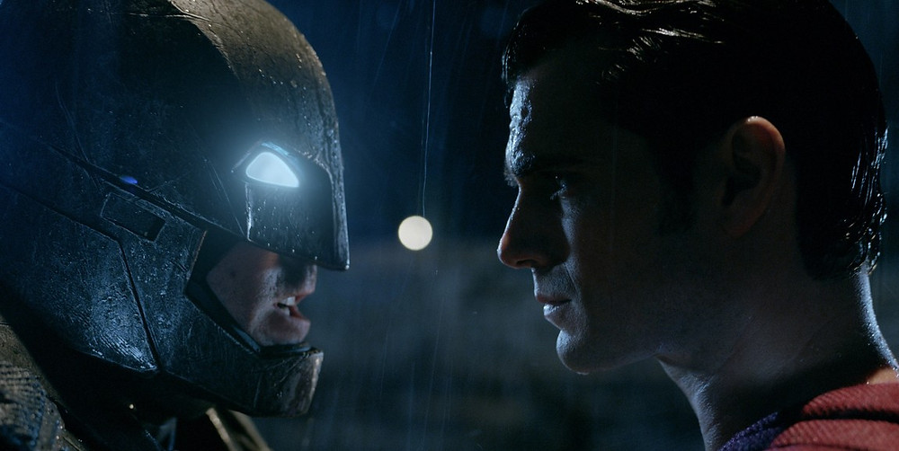 "Ben Affleck and Henry Cavill in ""Batman v Superman: Dawn of Justice"""