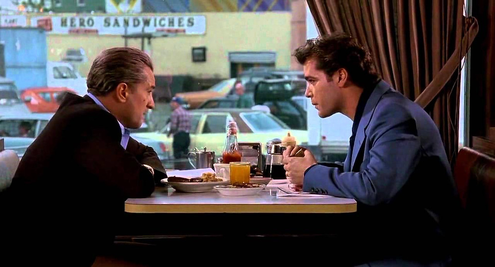 "Robert De Niro and Ray Liotta in ""Goodfellas"""