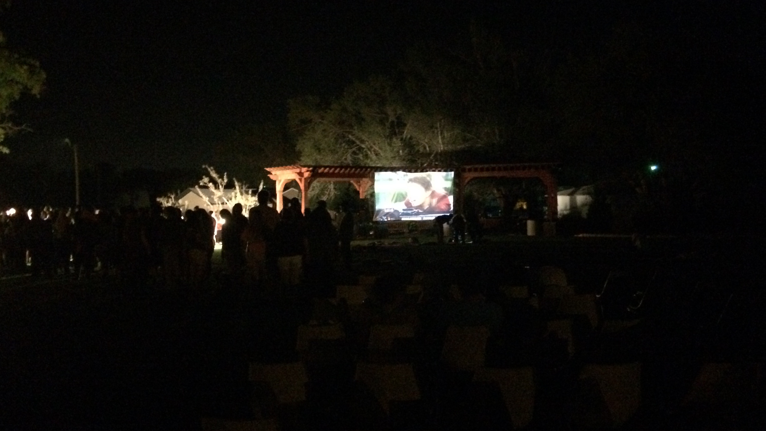 Movie on the Lawn Homecoming Event