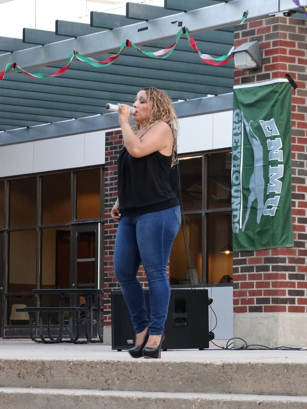 Ernestine Romero performs for Hispanic Heritage Month