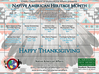 Native American Heritage Month kicked off