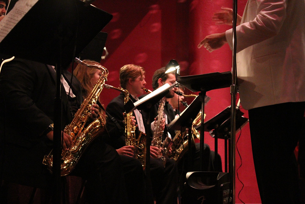 Student Duncan Miller performs as a part of the ENMU Jazz Ensemble