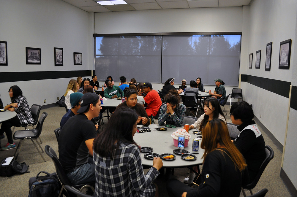 Students attending the mixer social hosted by International Affairs were able to enjoy food while meeting new friends