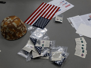 Veteran's Day events: the Pocket Flag Project