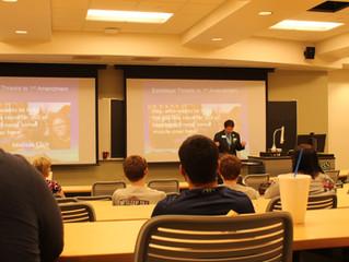 Dean Delivers Presentation on Free Speech