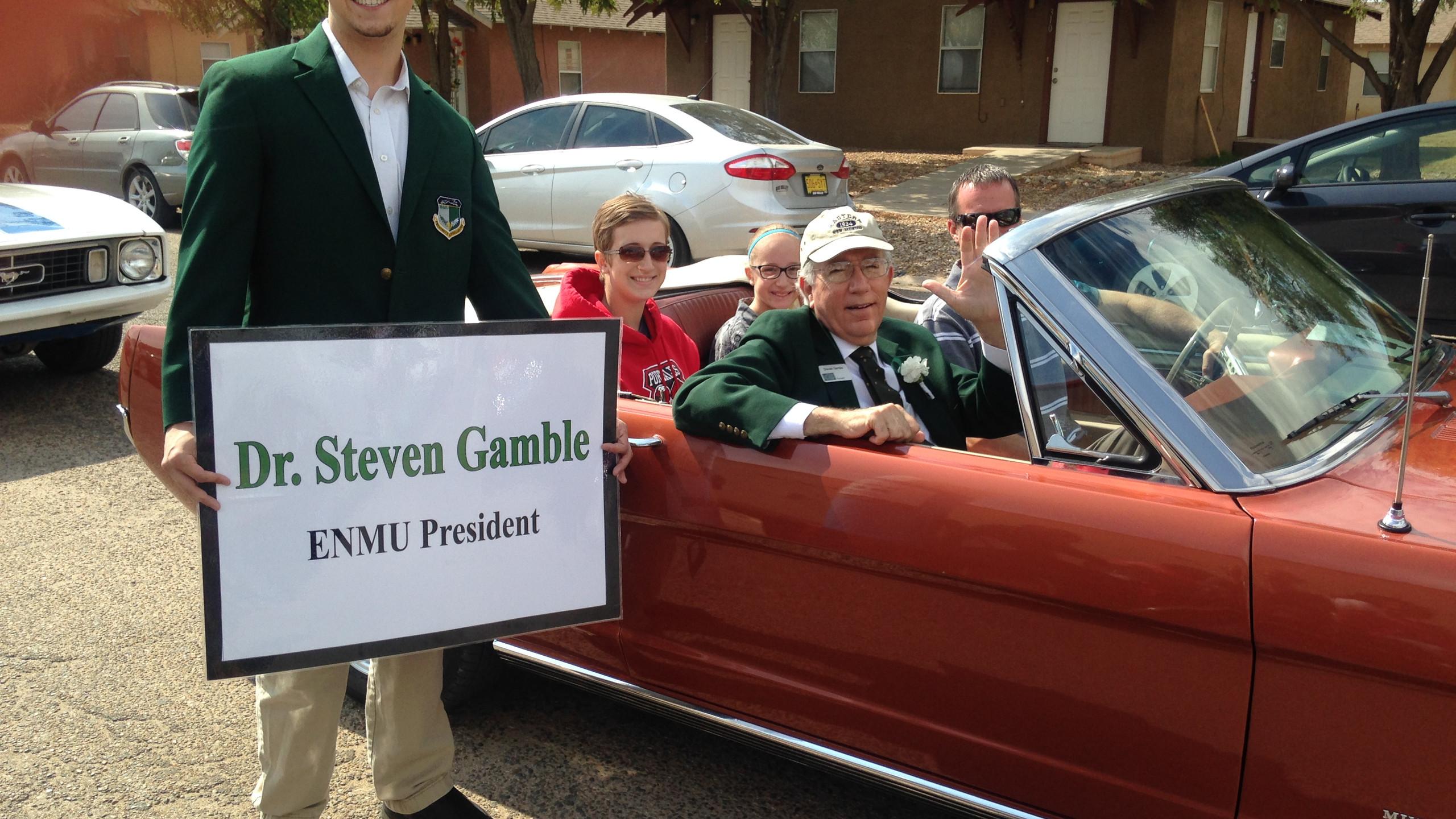 President Ambassador with Dr. Gamble