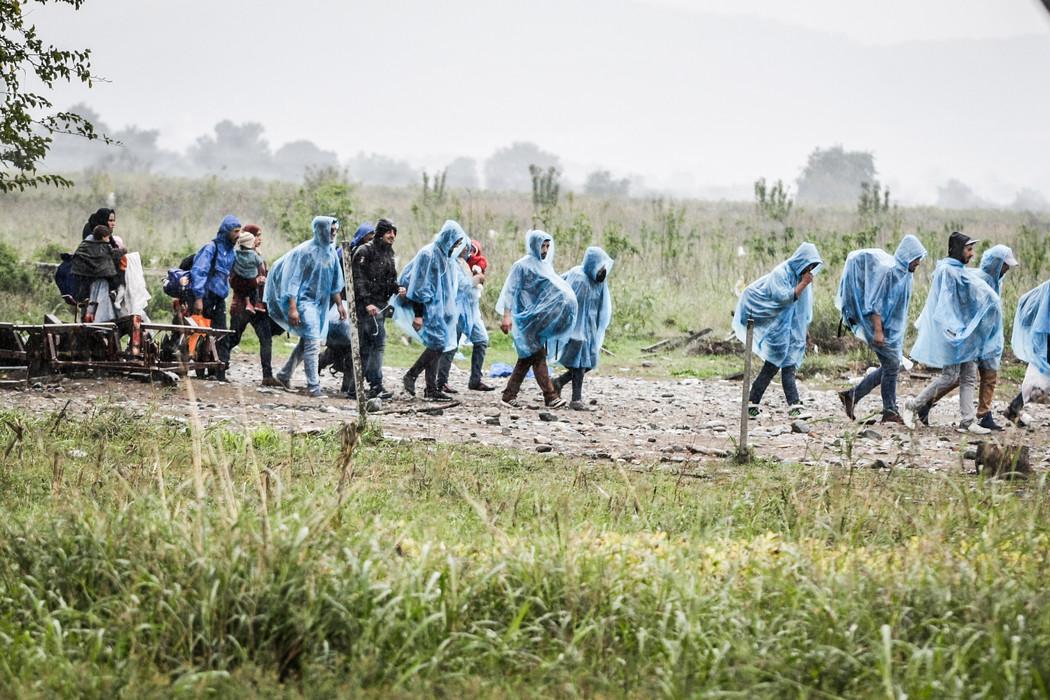 Refugees in Gevgelija, Macedonia