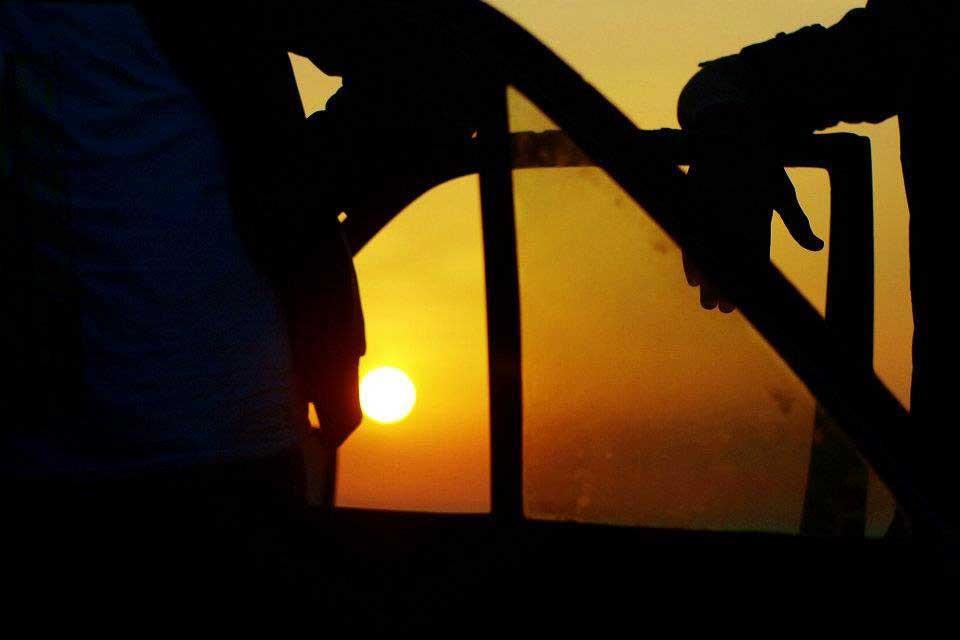Sunset at the port of rabat.
