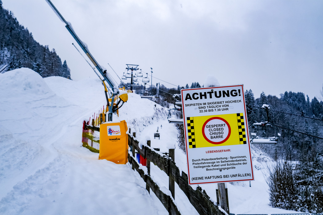 Closed ski slope in Oberaudorf.