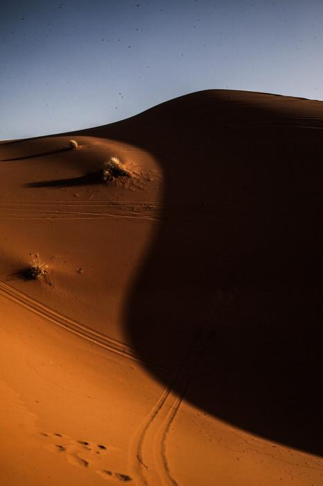 The Sahara desert near Mezouga.
