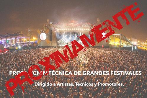 """WEBINAR """"PRODUCCIÓN TÉCNICA DE GRANDES FESTIVALES"""""""