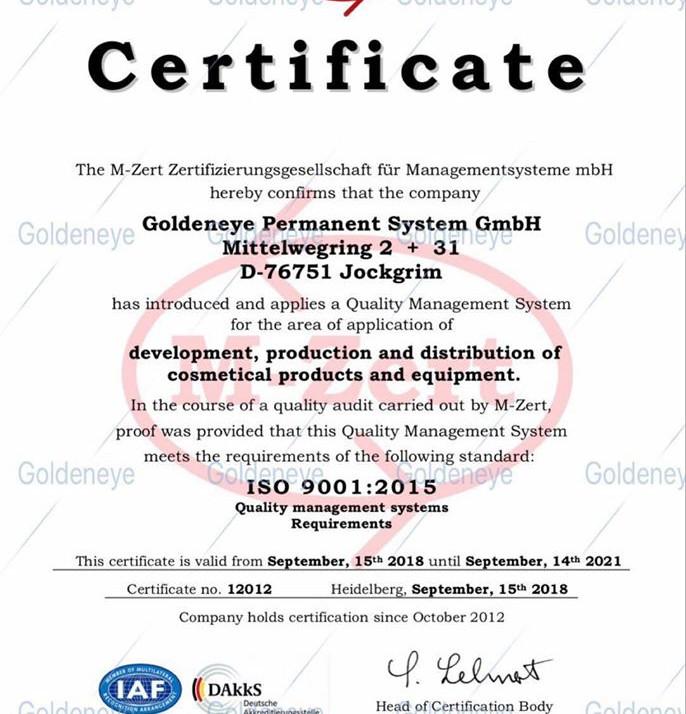 採用ISO認證色乳