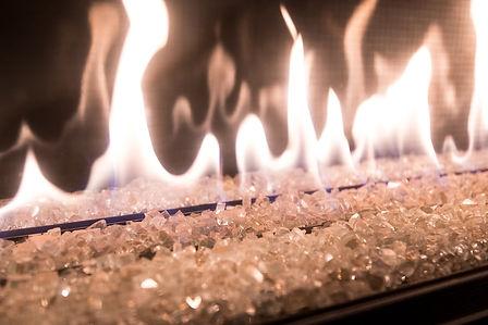 Close up view of a DaVinci fireplace