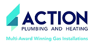 Action plumbing and heating multi-award winning gas installations logo