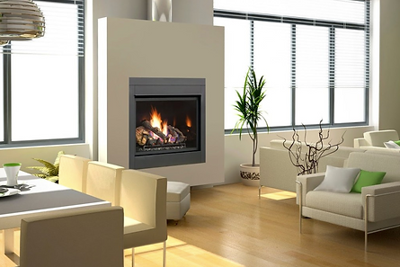 indoor fireplace in modern home