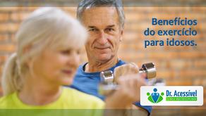 Benefícios do exercício para idosos.