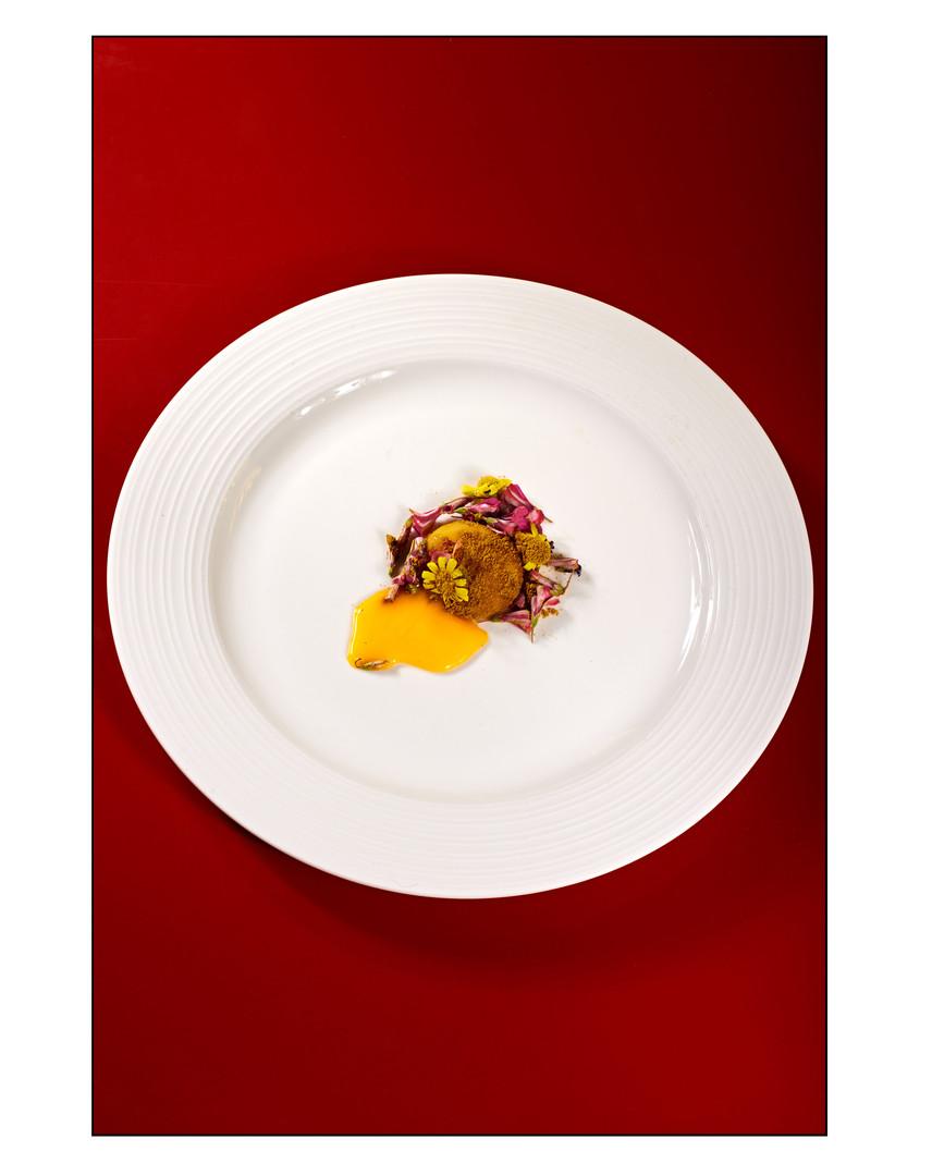 Egg Yolk, Flowers, Curry Powder