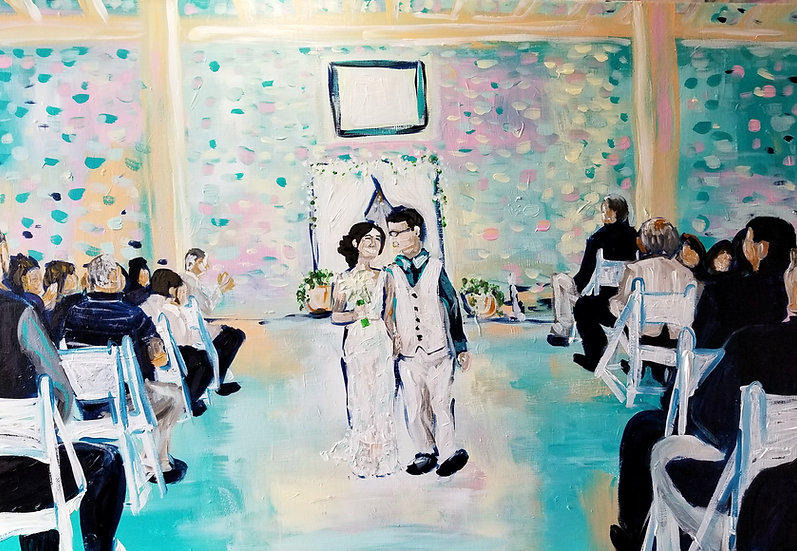 """Wedding Painting from a Photograph 24"""" x 30"""""""