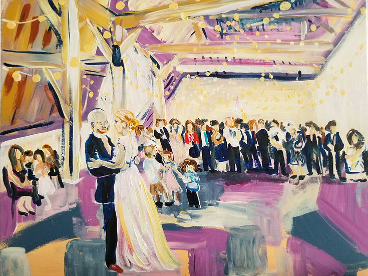 """Wedding Painting from a Photograph 16"""" x 20"""""""