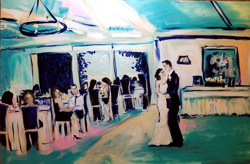 "Wedding Painting from a Photograph 18"" x 24"""