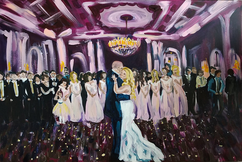 "Wedding Painting from a Photograph 24"" x 36"""