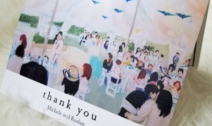 Wedding Thank You Cards from Your Painting