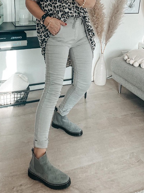 Jog Pant Jeans Hellgrau