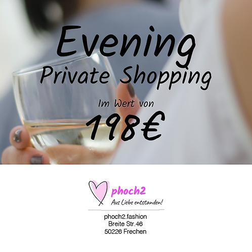 Private Shopping Evening