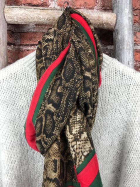 Animalprint Schal Snake