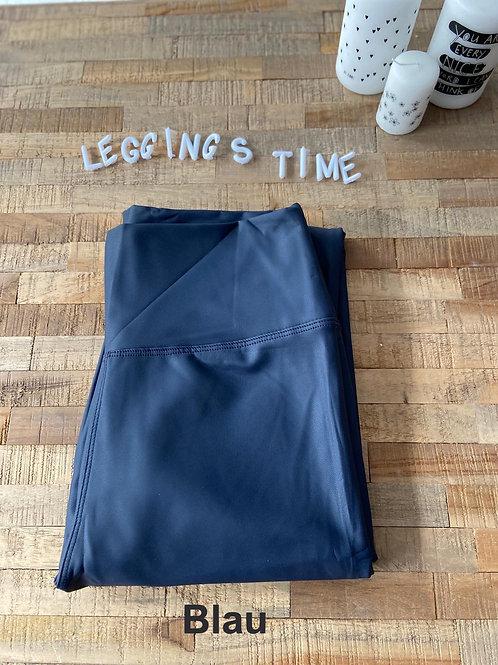 Deluxe Blau  Lederoptikleggings