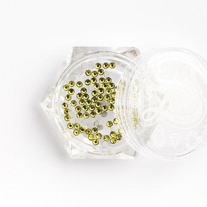 Стразы стеклянные №1123 Olive Green SS4 (1.5 мм) 100 шт