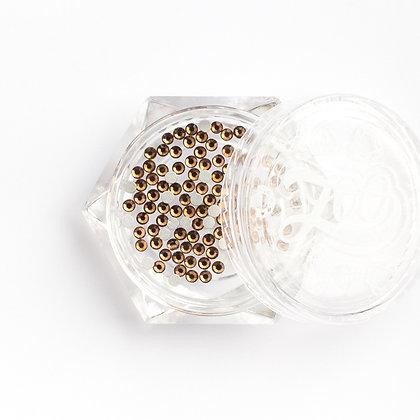 Стразы стеклянные №1133 Smoked Yellow SS4 (1.5 мм) 100 шт