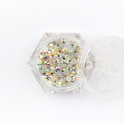Стразы стеклянные №1091 прозрачные AB голография SS10 (2.8 мм) 100 шт