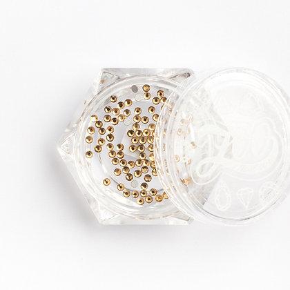Стразы стеклянные №1120 Topaz SS3 (1.3 мм) 100 шт