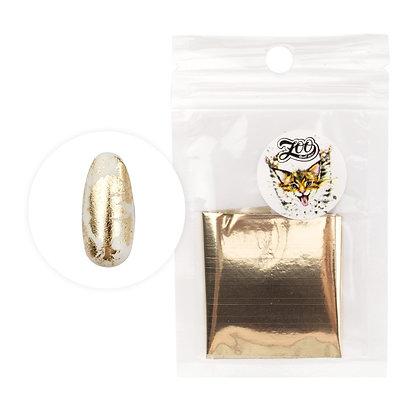 Фольга переводная Zoo №1415 глянцевая белое золото