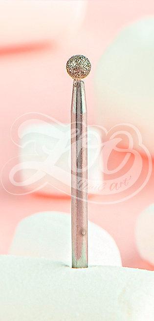 Фреза №1313, алмазная шаровидная синяя (средняя зернистость)