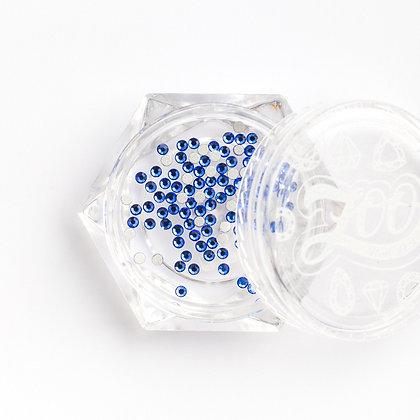 Стразы стеклянные №1128 Sapphire SS3 (1.3 мм) 100 шт